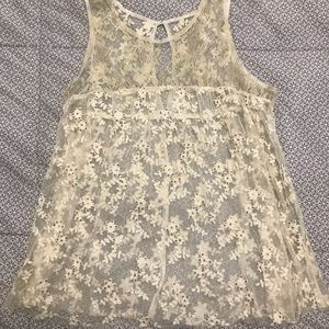 Lace Eyelet Top